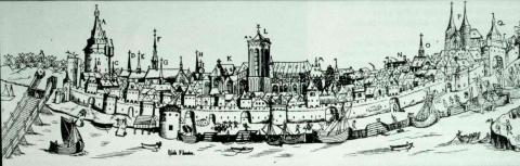 Gezicht op Deventer, 1550