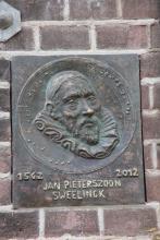 De Sweelinck plaquette in Deventer